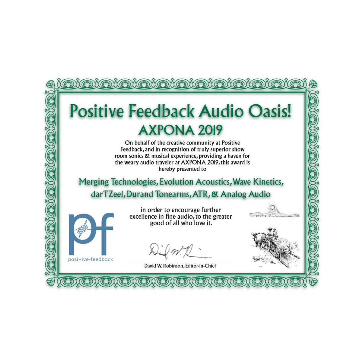 Positive Feedback Audio Oasis - AXPONA 2019