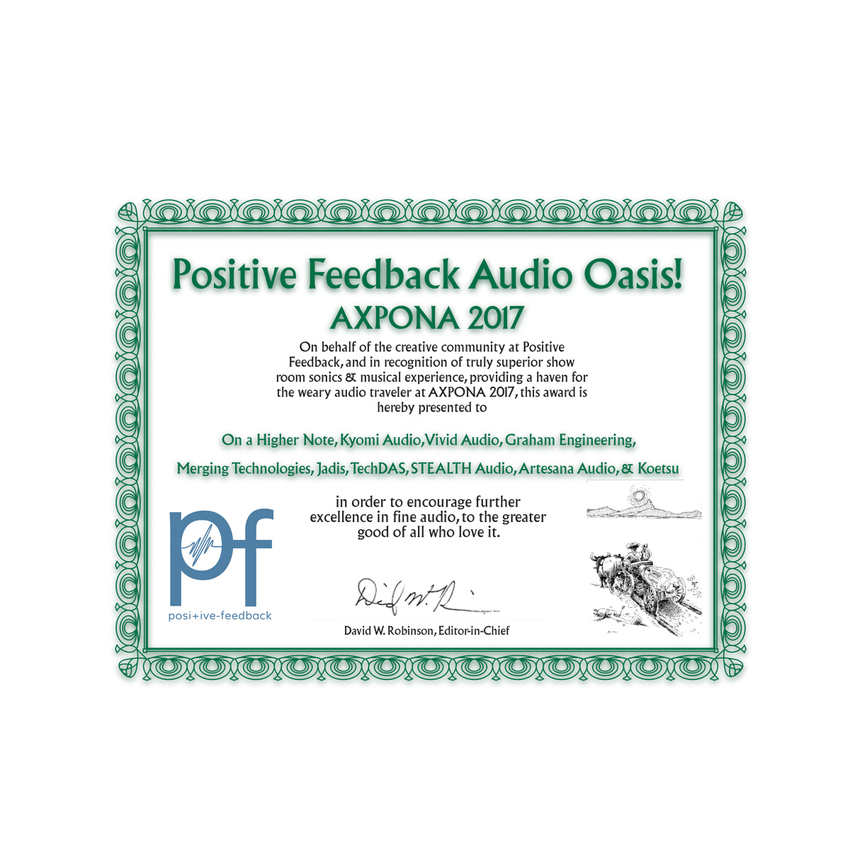 Positive Feedback Audio Oasis - Axpona 2017