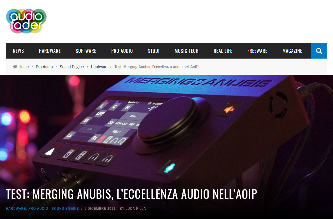 Anubis Review on Audiofader.com - By Luca Pilla - Italian