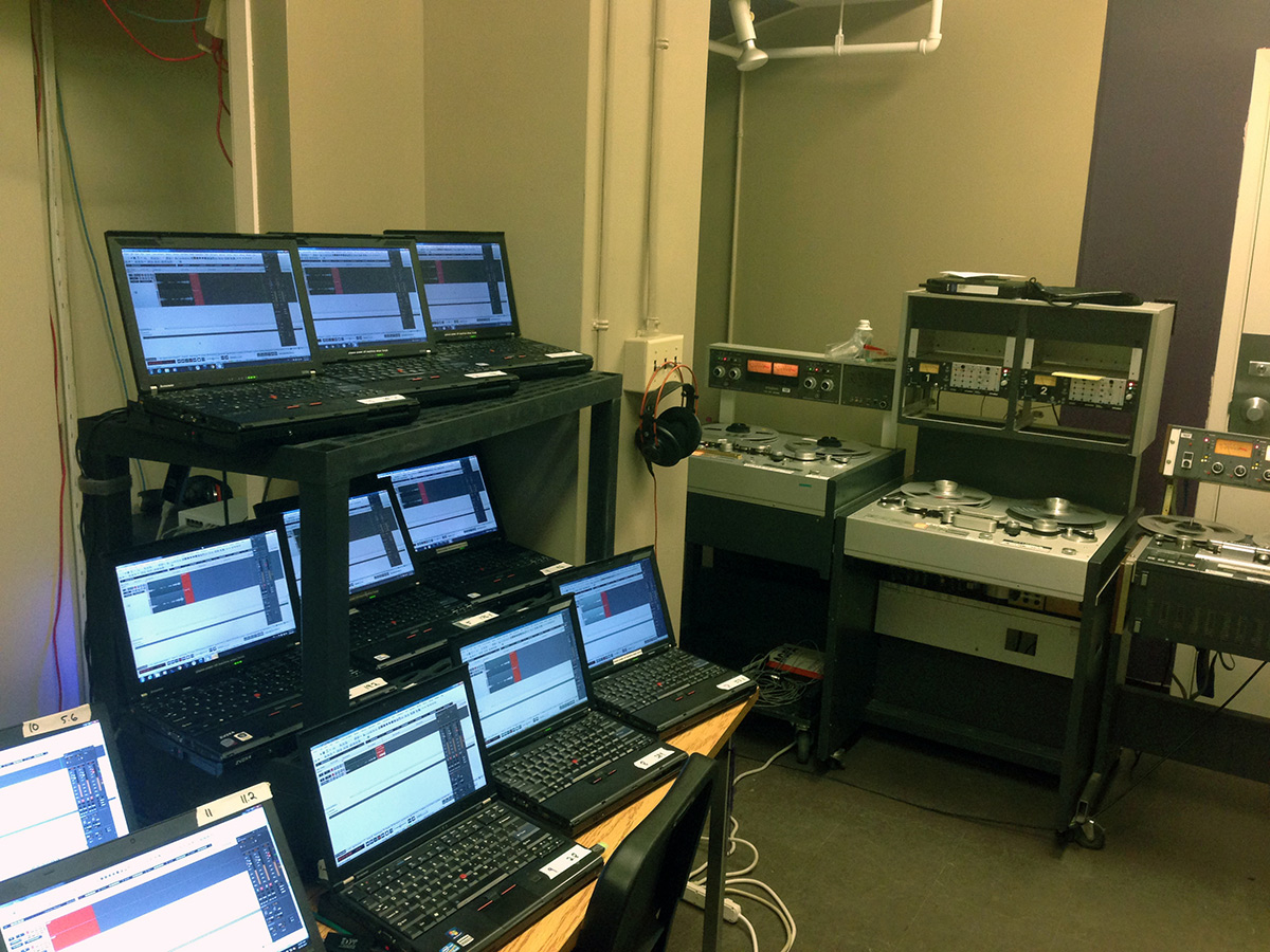 Laptops and tape machines