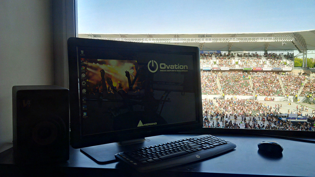 Ovation in Stadium