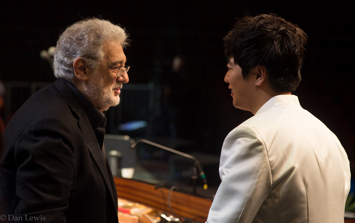 L to R: Placido Domingo, Lang Lang