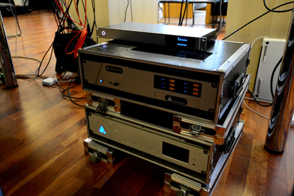 Stage to control room rack
