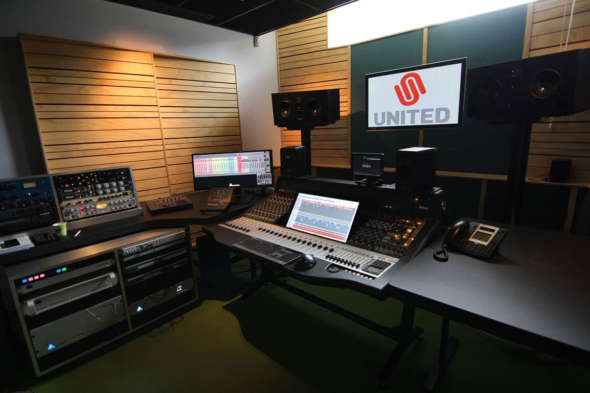 United Studio with a Genesys Black console