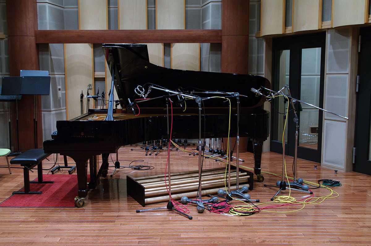 Piano mic set-up
