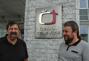 (L-R) David Stein from Merging's Czech Republic Distributor, Interlab and Jiří Cerny, Czech TV's Head of Sound Department